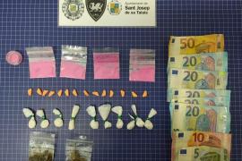 Detenido con numerosas dosis de cocaína, MDMA, cocaína rosa, hachís y marihuana en Ibiza