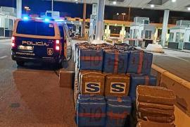 El hachís incautado por la Policía Nacional de Palma es uno de los mayores alijos de España