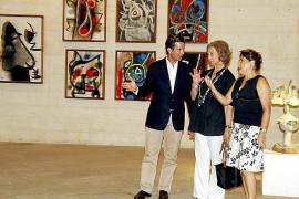 La Reina recorre la Fundació Pilar i Joan Miró