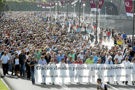 Miles de personas reclaman que se haga efectiva la libertad de Bolinaga
