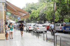 Eivissa estrena septiembre con una intensa tromba de agua y el descenso de temperatuas