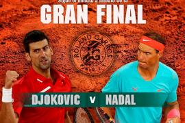 Rafael Nadal-Novak Djokovic, en directo