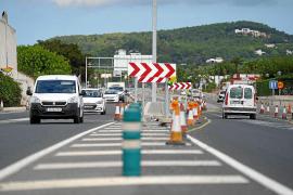 El paso subterráneo entre Jesús y Puig d'en Valls retrasa la carretera de Santa Eulària