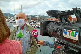 Joan Torres, ayer, en el puerto de Sant Antoni