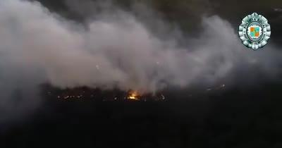 Investigan la intencionalidad del fuego que devoró 5,15 hectáreas de bosque en Sant Josep