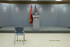 Fernando Simón, durante una rueda de prensa este jueves en el Ministerio de Sanidad en Madrid