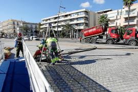 Abaqua realiza tareas de limpieza del tanque de tormentas de Vila