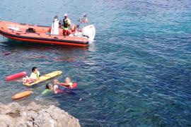 Sant Josep realiza un simulacro de rescate en una zona rocosa de sa Sal Rossa
