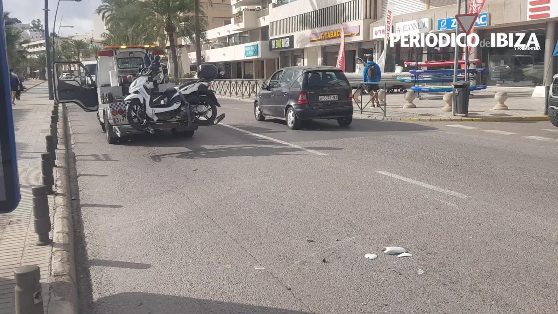 Herido un motorista tras ser embestido por un vehículo que hizo un giro irregular en Vila