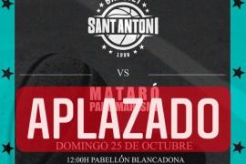 Aplazado el debut del Básquet Sant Antoni