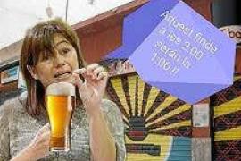Las redes sociales bullen con los 'memes' de la salida nocturna de la presidenta Armengol