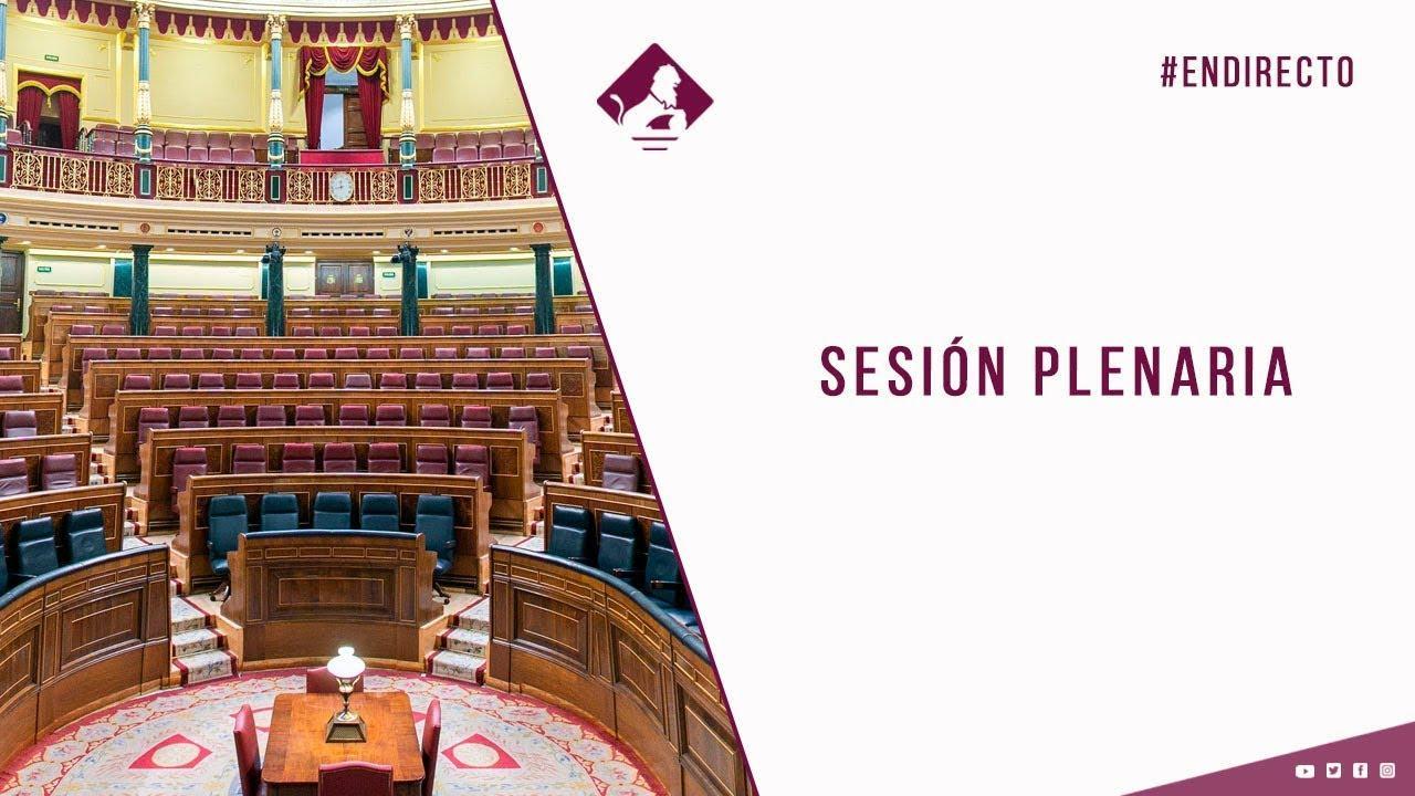 DIRECTO | Pleno del Congreso para aprobar la prórroga del estado de alarma