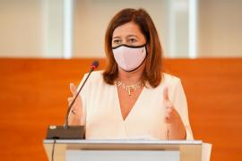 Armengol afirma que «el Govern trabaja para hacer que las entradas a Baleares sean seguras»