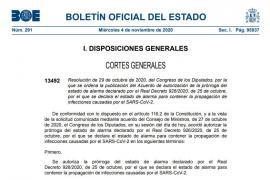 El BOE publica la prórroga del estado de alarma con la comparecencia periódica de Sánchez