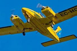 Buscan en el mar una avioneta con dos pilotos que volaba de Ibiza a Reus
