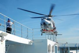 Evacuado en un simulacro un herido en pleno trayecto del ferry Abel Matutes