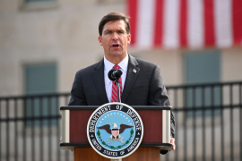 El secretario de Defensa, Mark Esper
