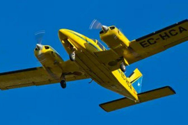 Hallan restos de la avioneta desaparecida en un vuelo entre Ibiza y Reus