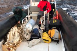 Rescatan a un joven malherido tras saltar al agua en la Cova de Na Coloms