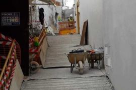 Vila realiza trabajos de consolidación del suelo de la calle Sant Rafel de Dalt Vila