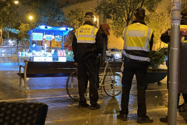 La Policía Local de Palma multa a ciclistas por no circular por el carril bici