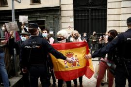 Protesta llegada presidente Sáncez a Navarra