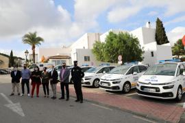Sant Josep renueva y amplía la flota policial con seis nuevos vehículos