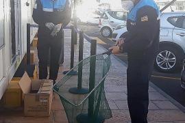 Rescatan a un cormorán herido en Sant Antoni