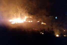 Extinguido un incendio forestal declarado de madrugada en el entorno de Cova Santa