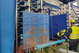 Comienza la remodelación de una línea de la desalinizadora de Formentera