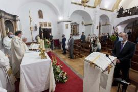Santa Gertrudis celebró ayer su día grande con una misa en la iglesia del pueblo