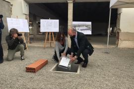 Colocan la primera piedra de las obras de la nueva Escuela de Hostelería de Ibiza