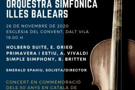 La Orquesta Sinfónica de las Islas Baleares ofrece un concierto en conmemoración de los 50 años de la reanudación del IEE
