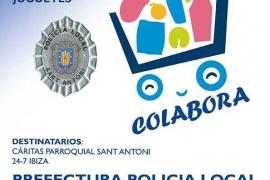 La Policía Local de Sant Antoni inicia en diciembre una campaña de recogida de alimentos y juguetes