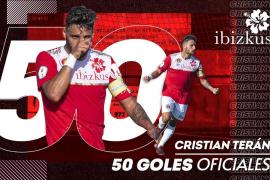 Terán llega a los 50 goles con el CD Ibiza