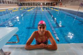 Susana Sevillano, en la piscina de Santa Gertrudis.