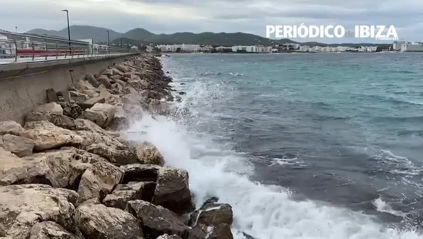 Alerta amarilla por fuertes rachas de viento en las Pitiusas
