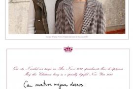 Fotografía de la postal de Navidad de la Familia Real