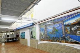 La zona del centro donde hay algunos grafittis y la gran obra de Gianluca Romeo, 'El triunfo de la luz'