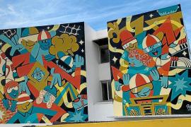 El Medusa Art Festival llega hasta las paredes del IES Algarb de Sant Jordi