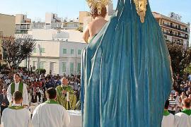 La Virgen de las Nieves vuelve a ver el sol 57 años después
