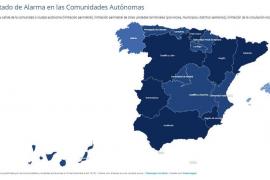Consulta en este mapa interactivo las restricciones de tu comunidad