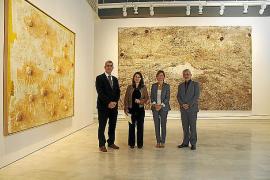 """PRESENTACION DE LA EXPOSICION COLECTIVA """" MIRADES CREUADES """" EN CAIXAFORUM DE PALMA."""