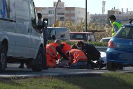 Herido un joven motorista en una aparatosa caída en el cinturón de ronda de Ibiza