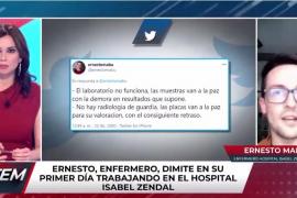 Un enfermero dimite en su primer día en el hospital Isabel Zendal de Madrid