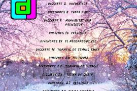 El Casal de Joves de Formentera presenta las actividades del mes de enero