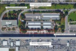 Aena restringirá el estacionamiento en la zona de carga y descarga