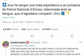 Claudia Cotaina la monta en comisaría al hablar catalán