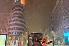 Marta Díaz, en la nevada histórica de Madrid