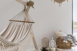 Hamacas colgantes: calidez y relax también en el interior de tu hogar